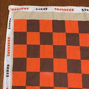 Vintage Accessories - Vtg checkers/chess cotton bandanna
